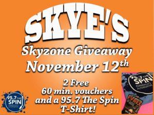 Skye's Skyzone Giveaway